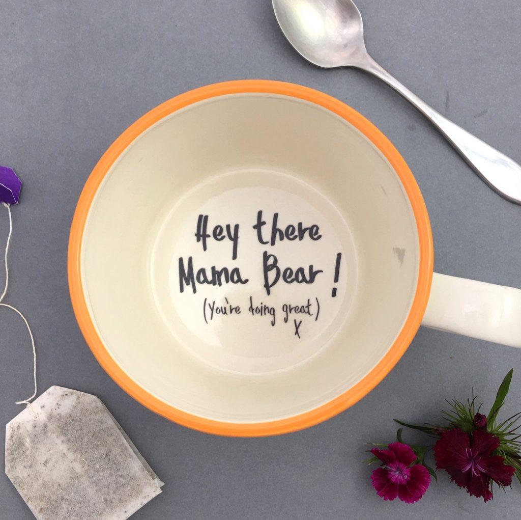 Mama Bear new mum gift handmade cup