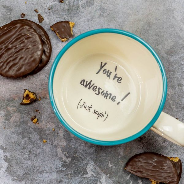 You're awesome mug motivational positive message gift cup