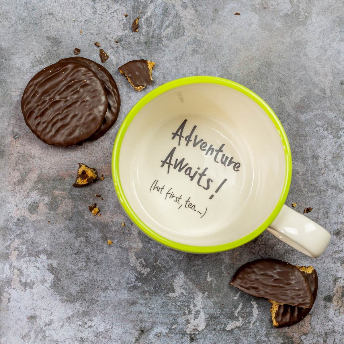adventure awaits but first tea - funny gift for tea lover