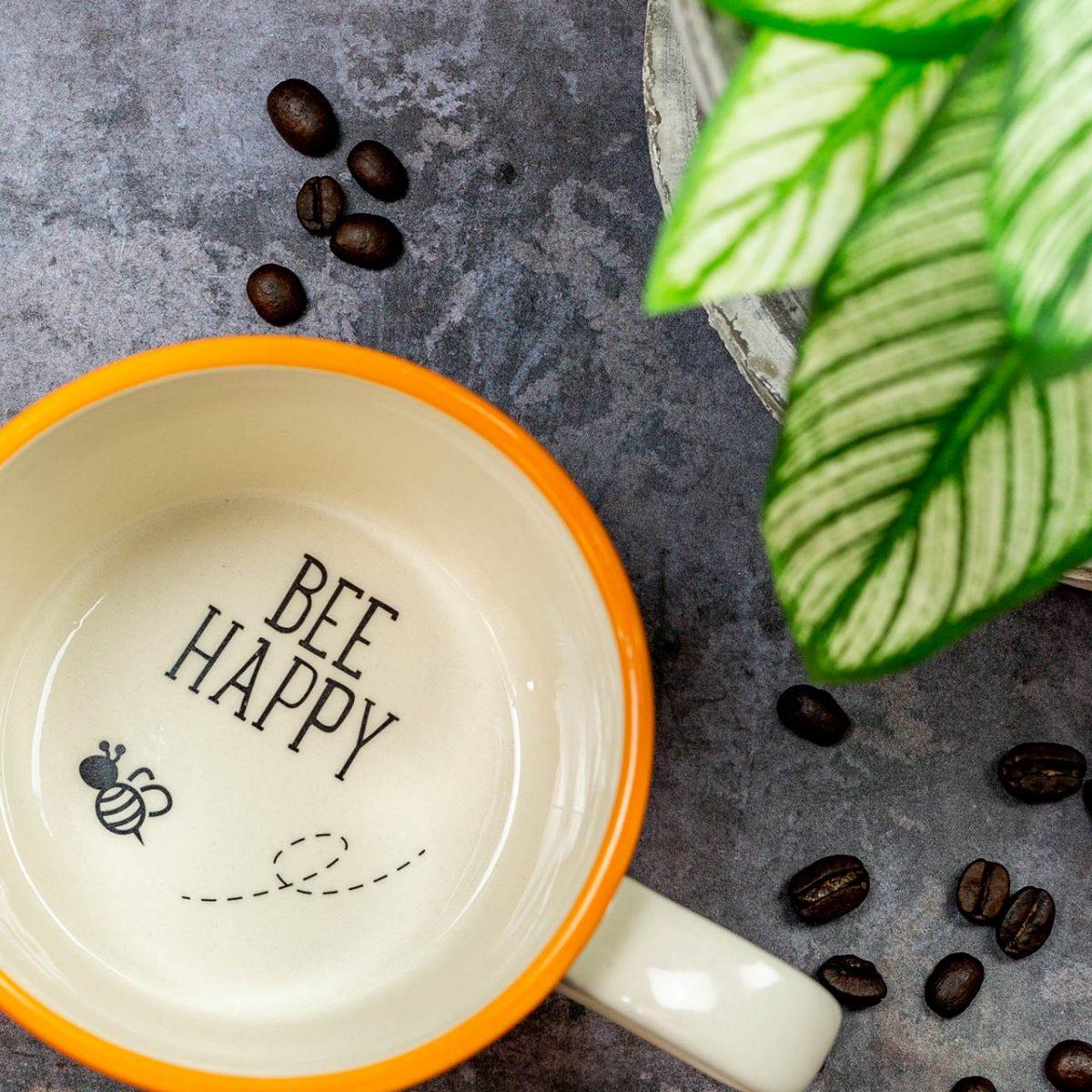 Bee Happy Mug - Kate Ceramics