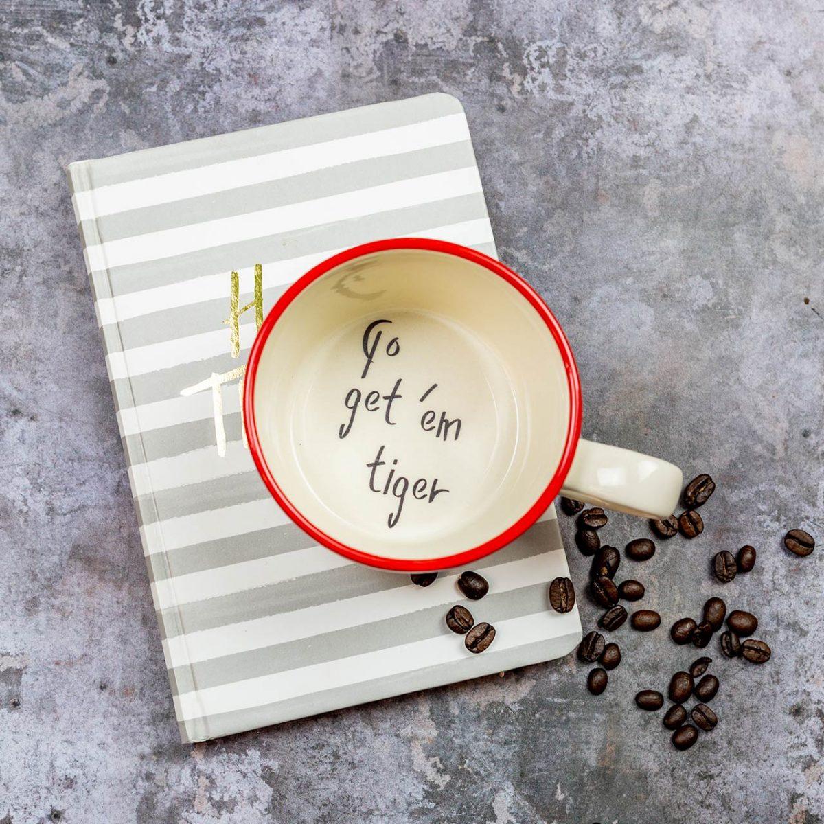 Go get 'em Tiger Handmade Mug - Kate Ceramics