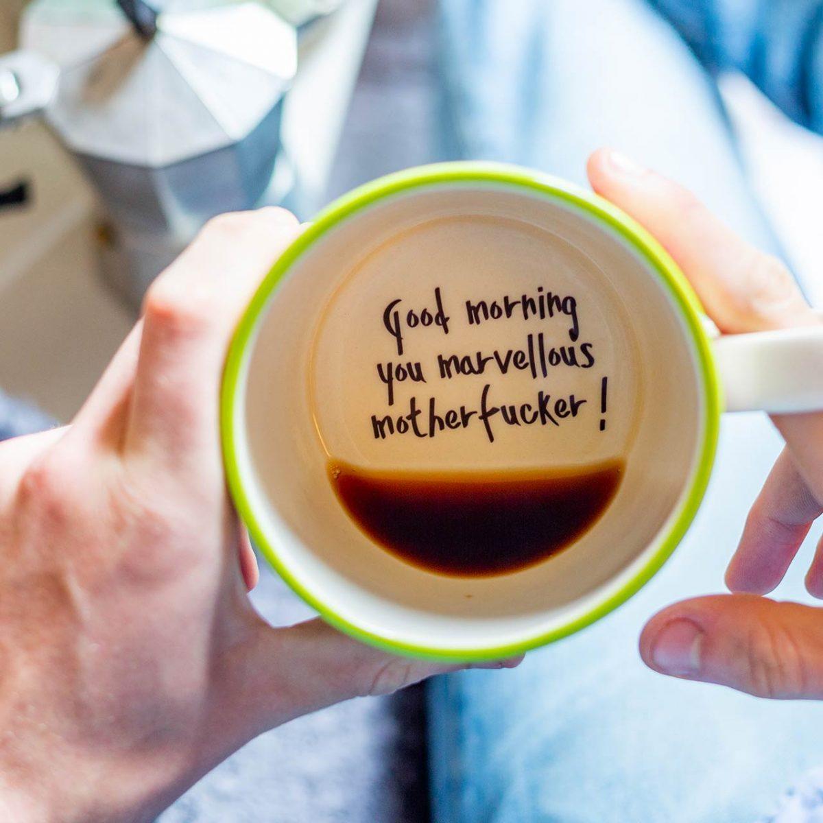 Good Morning You Marvellous Motherfucker - Handmade Mug - Kate Ceramics