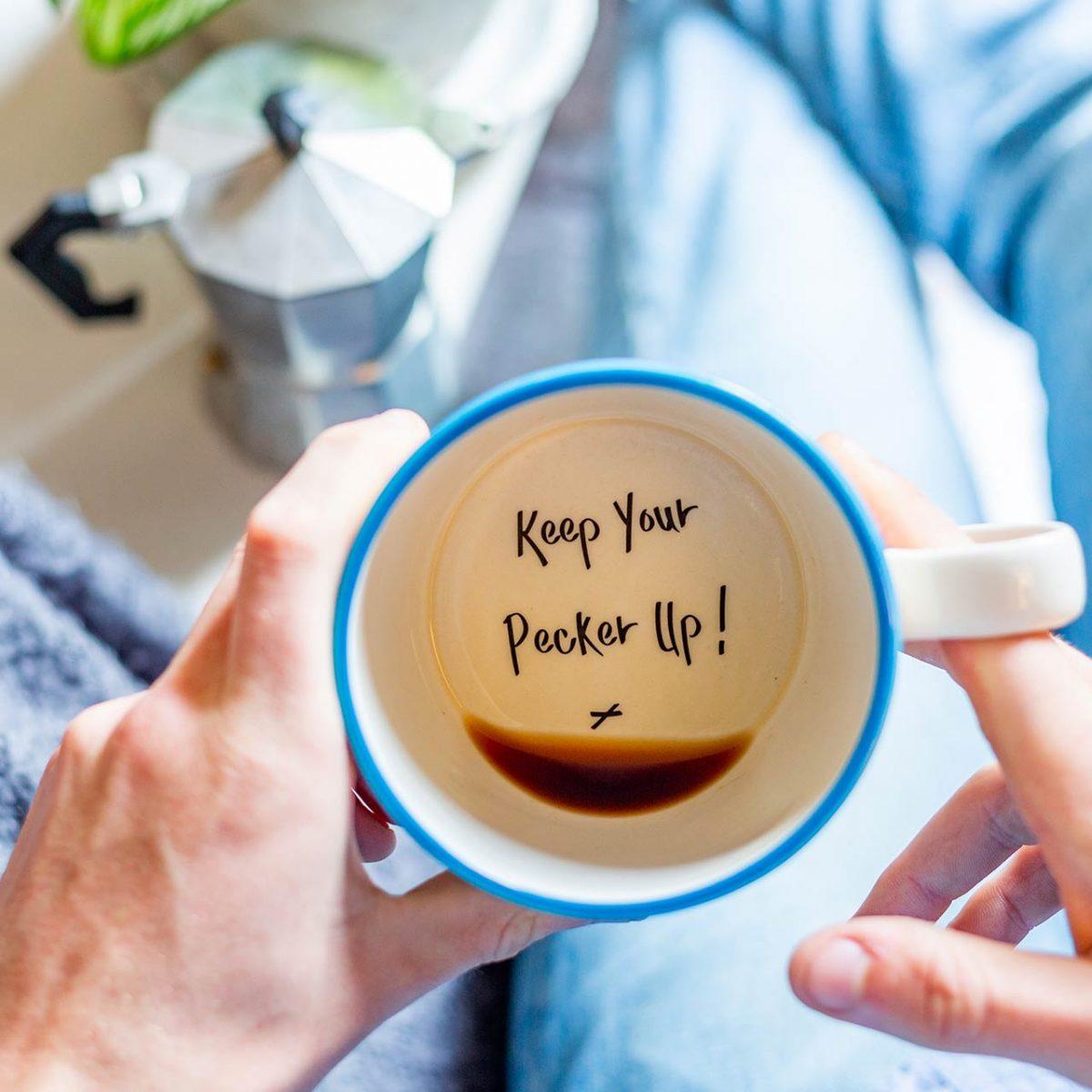 Keep Your Pecker Up - Handmade Mug - Kate Ceramics